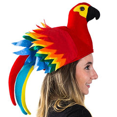 Tigerdoe Parrot Hat - Parrot Hats Jimmy Buffet - Novelty Hat - Parrot Head Hat - Hawiian Party - Bird Costume Hat