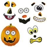 Tigerdoe Halloween Stickers - 24 Sheets kids Jack O' lantern Pumpkin Stickers- by