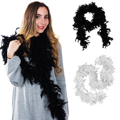 Tigerdoe Feather Boas - 2 Marabou Boas, Party Dressup Costume Accessories, 72 inch Long
