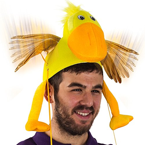 Duck Hat - Flapping Wing Duck Hat - Novelty Hat - Yellow Duck Hat - Duck Costume Accessories by Tigerdoe