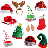 Tigerdoe Christmas Party Supplies - Christmas Photo Booth Prop - Christmas Costume accessories - Christmas Headbands