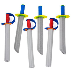 Tigerdoe Foam Swords - Toy Swords for Kids - Costume Accessories by (6 Pack of Foam Swords)