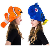Tigerdoe Fish Hats - Clown Fish Hat - Tropical Fish Hat - Costume Hats - Under The Sea Party Hats (2 Pack)