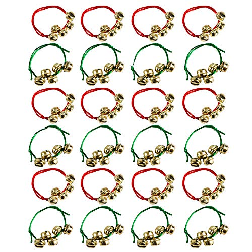 Tigerdoe Jingle Bell Bracelet Bulk - Christmas Party Favors - Holiday Party Supplies - (24 Pack)