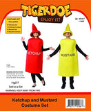 Tigerdoe Ketchup and Mustard Costume - Couples Costumes for Adults - Mascot Costume - Food Costumes