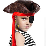 Tigerdoe Pirate Hat - 3 Pc Set - Pirate Hat and Eye Patch - Pirate Accessories - Pirate Costumes for Kids