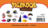 Tigerdoe Dress Up Hats for Kids - Kids Dress Up - Costume Hats - (5 Pc Set) Assorted Party Hats