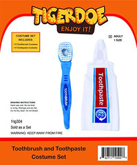 Tigerdoe Toothbrush and Toothpaste Costume - 2 Pc Set - Couples Costumes - Funny Costumess