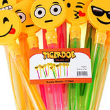 Tigerdoe Bubble Wands for Kids - 12 Pack - Emoji Buble Wand - Emoji Party Favors - Bubbles for Kids