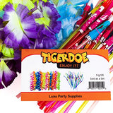 Luau Party Supplies - Hawaiian Party Favors - 36 Pc. - Lei Necklaces and Umbrella Straws by Tigerdoe