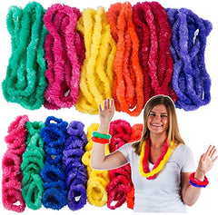 Tigerdoe Luau Accessory Set - 50 Plastic Lei Necklaces - 100 Plastic Lei Bracelets