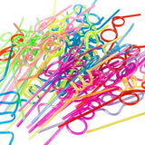 Tigerdoe Straws for Kids - 50 Pcs - Crazy Loop Straws - Reusable Straws - Twirly Straws - Silly Straws