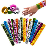 Tigerdoe Silicone Slap Bracelets - 18 Pcs - Slap Bands for Kids - Jungle Theme Party Supplies - Animal Party Favors