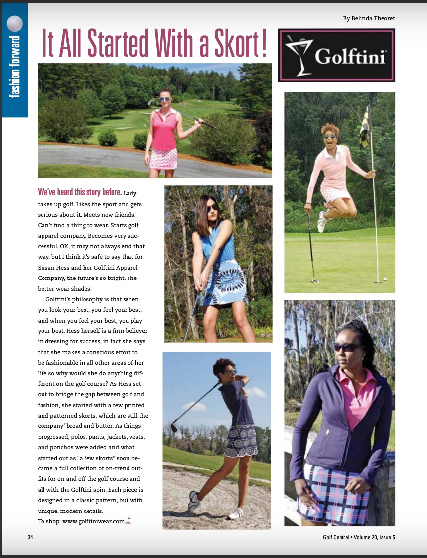 Golftini in the Spotlight: Golf Central Magazine