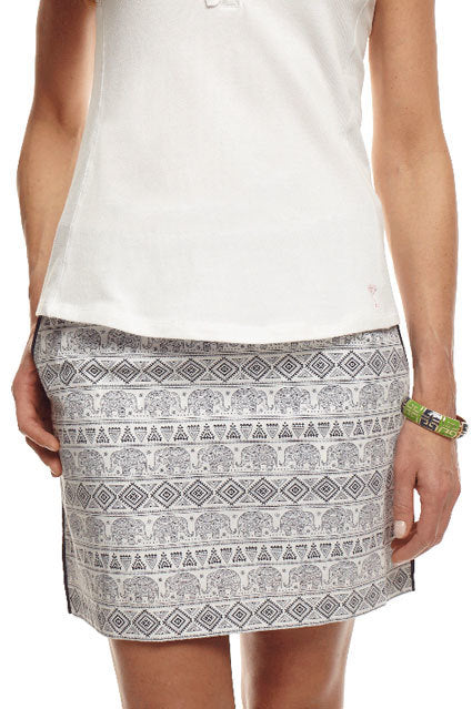 Women's Empowered Elephants Cotton Skort (Comes in 2 Lengths)