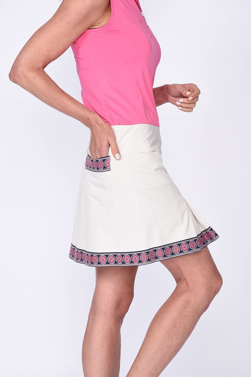 Sandy Birdie Performance Pleat Skort