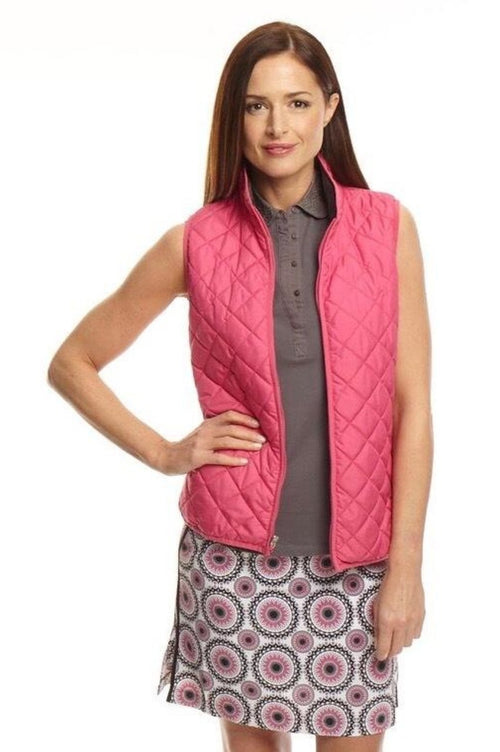 Women's Reversible Wind Vest - Hot Pink / Grey