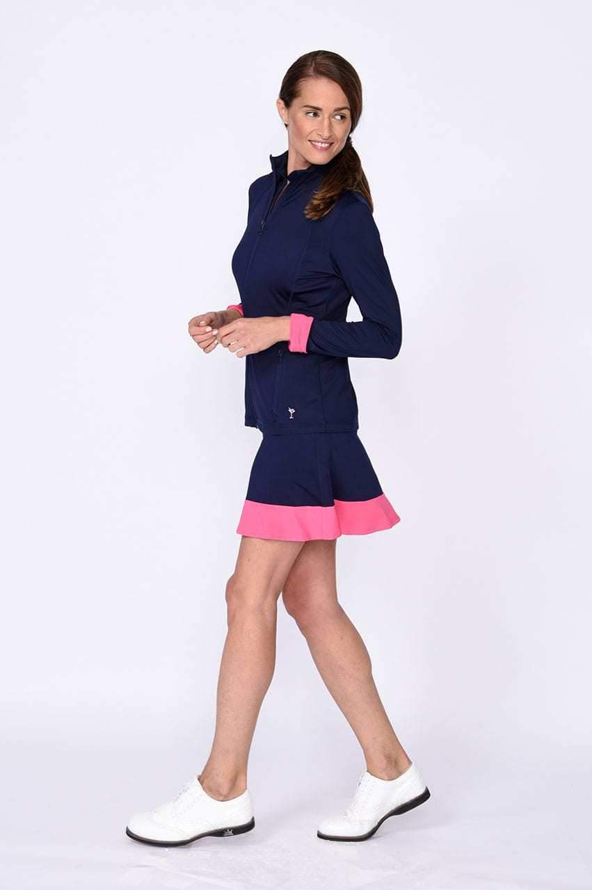 GT Tech Jacket - Navy with Hot Pink