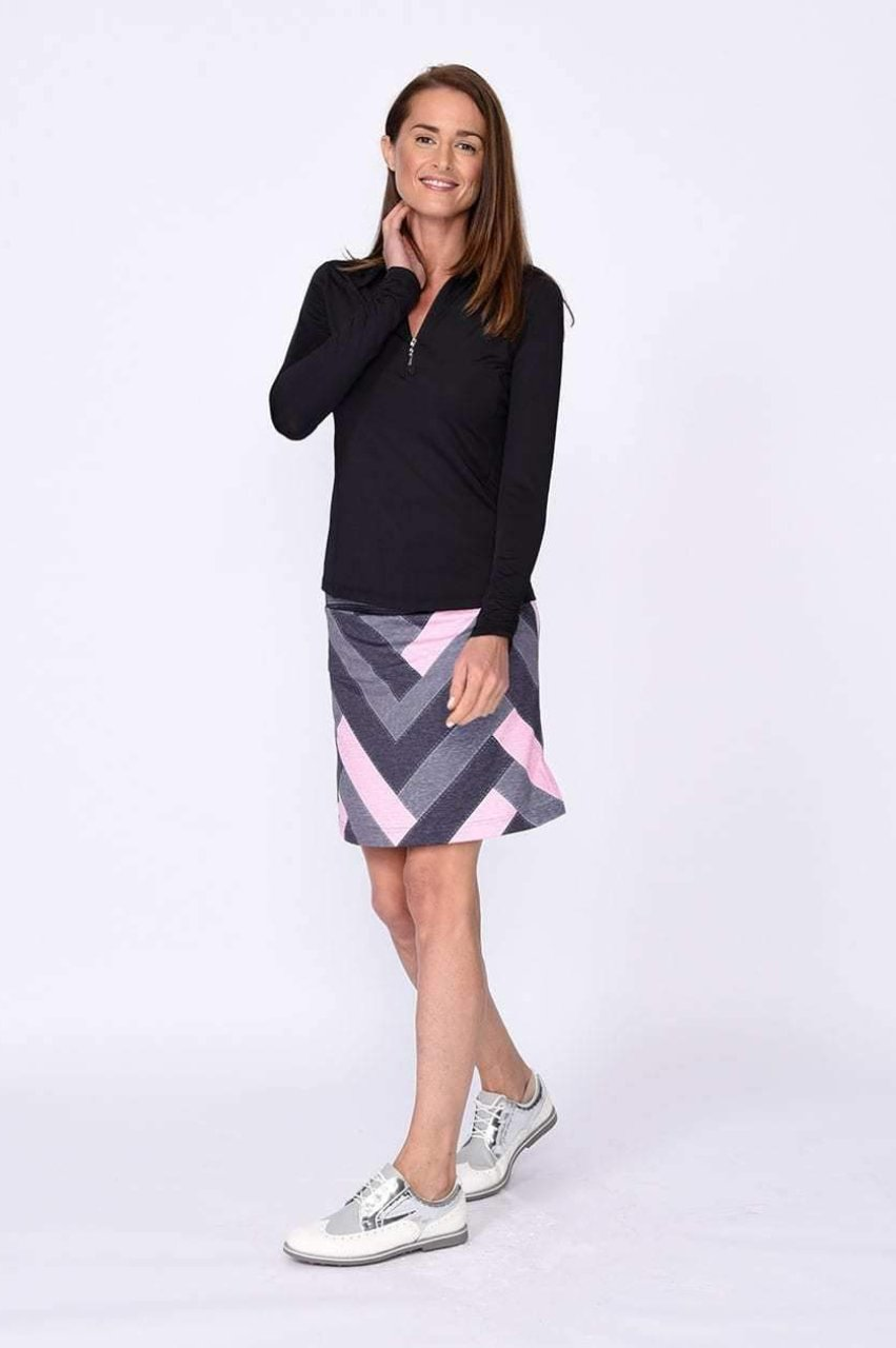 Twilight Patchwork Pull-On Tech Skort