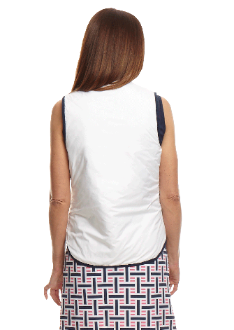 Women's Reversible Wind Vest - Navy / White