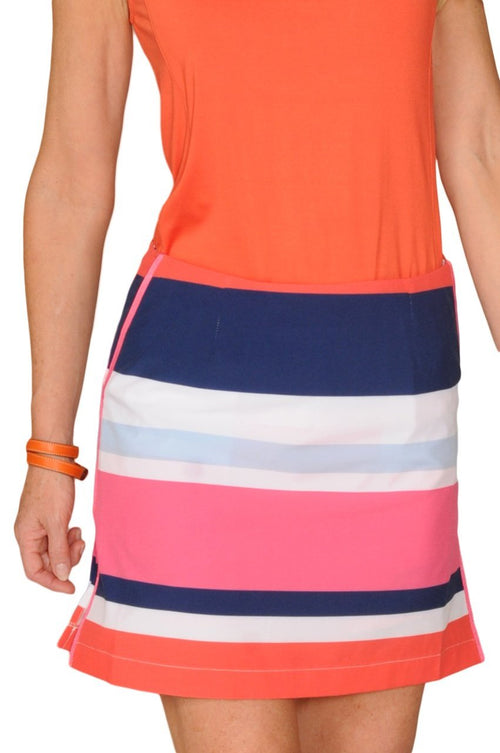 Women's Derby Striped Performance Skort (Comes in 2 Lengths)
