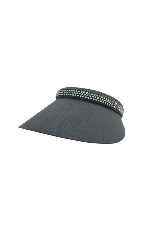 Audrey Clip-On Visor - Charcoal