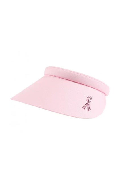 Audrey Pink Ribbon Visor - Powder Pink