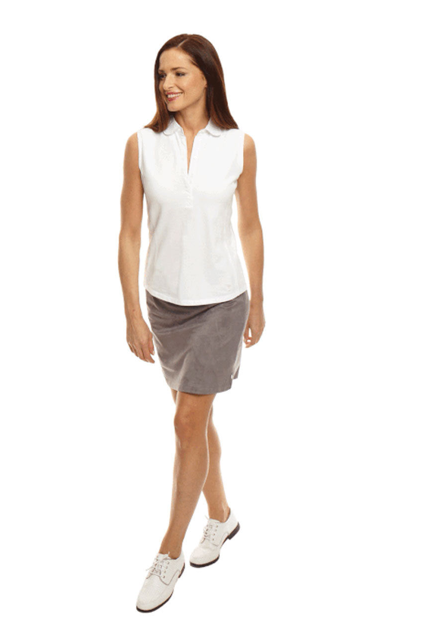 Bar-Fly Grey Washable Ultrasuede Skort