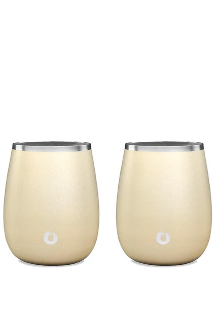 SNOWFOX Stainless Steel Chardonnay Wine Glass (Set of 2)