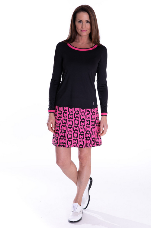 Hot Pink and Black Performance Stretch Skort | Connector