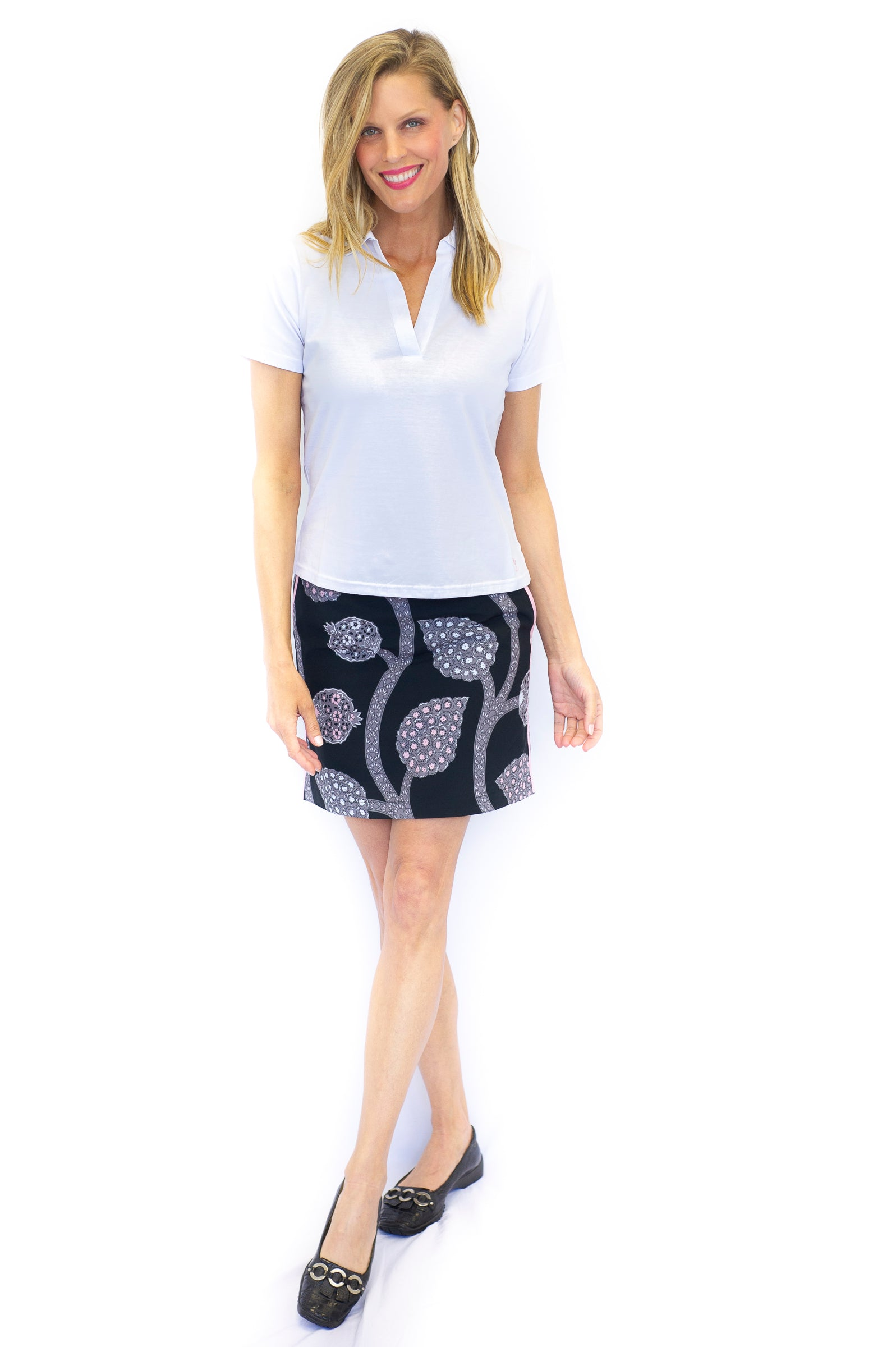 Paisley Performance Stretch Skort | Night Cap | Available in 2 Lengths