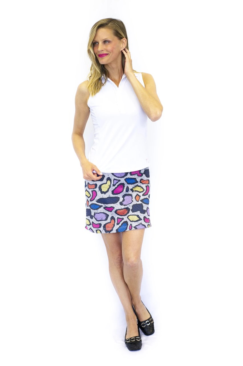 Pull-On Stretch Skort | Jungle Juice