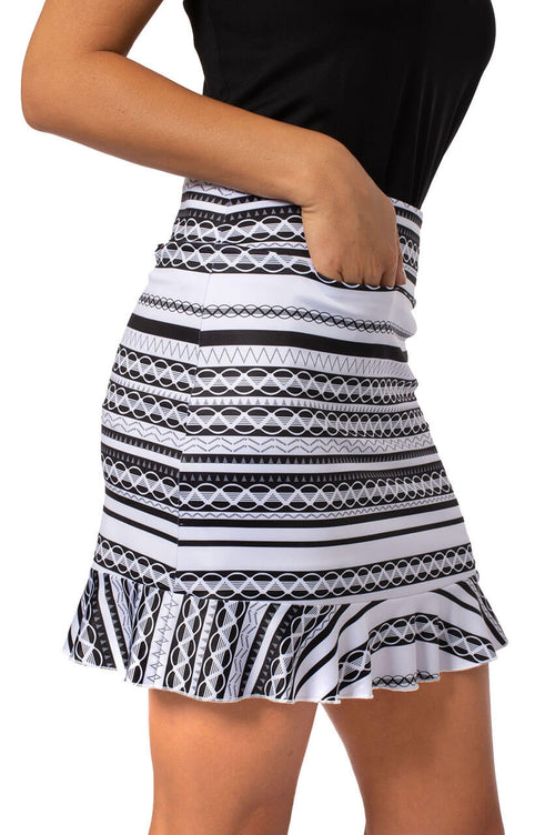 Pull-On Stretch Skort with A Ruffle | Ice Cream Sandwich