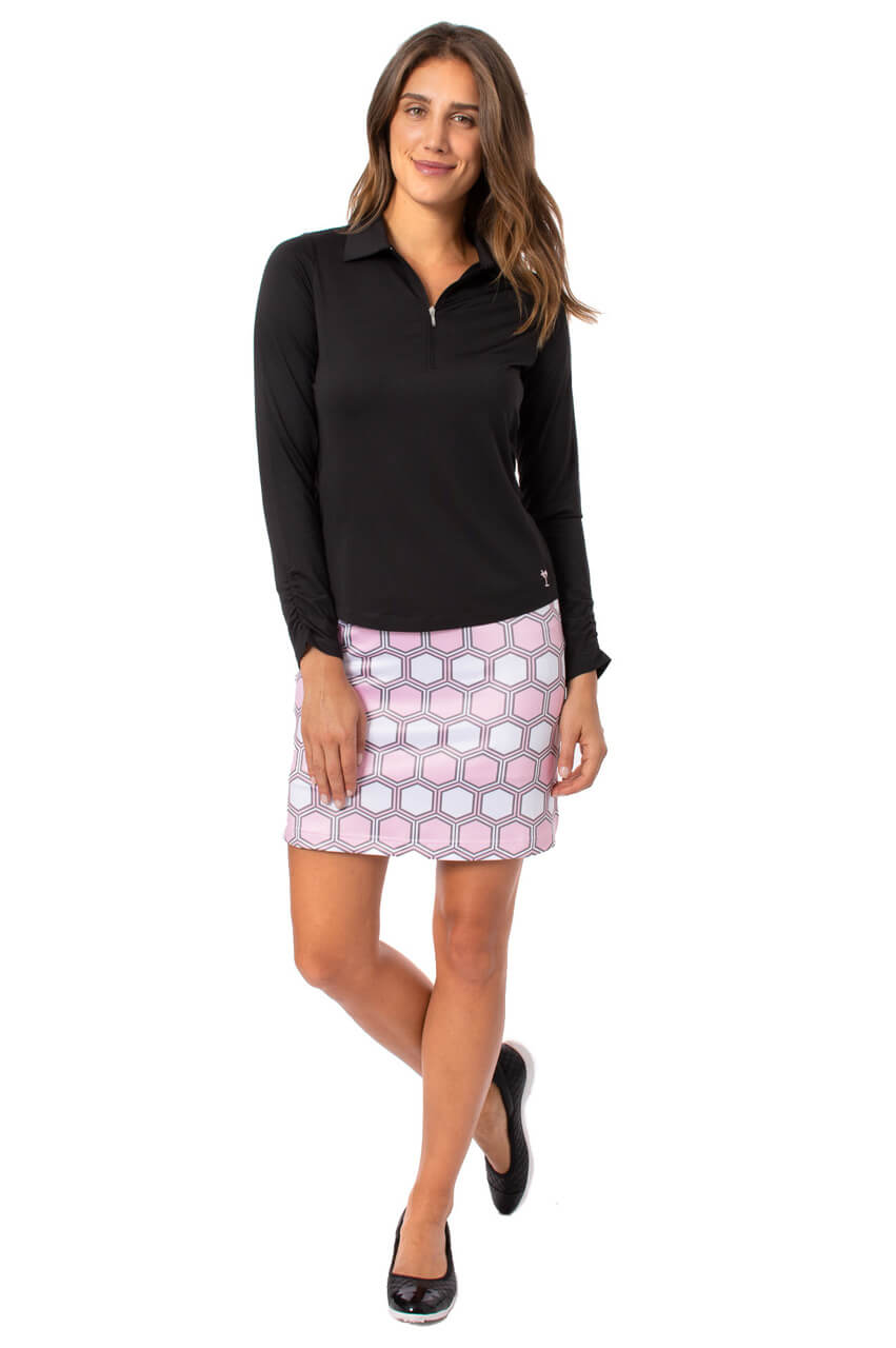 Light Pink & White Pull-On Stretch Skort | Strawberry Shortcake