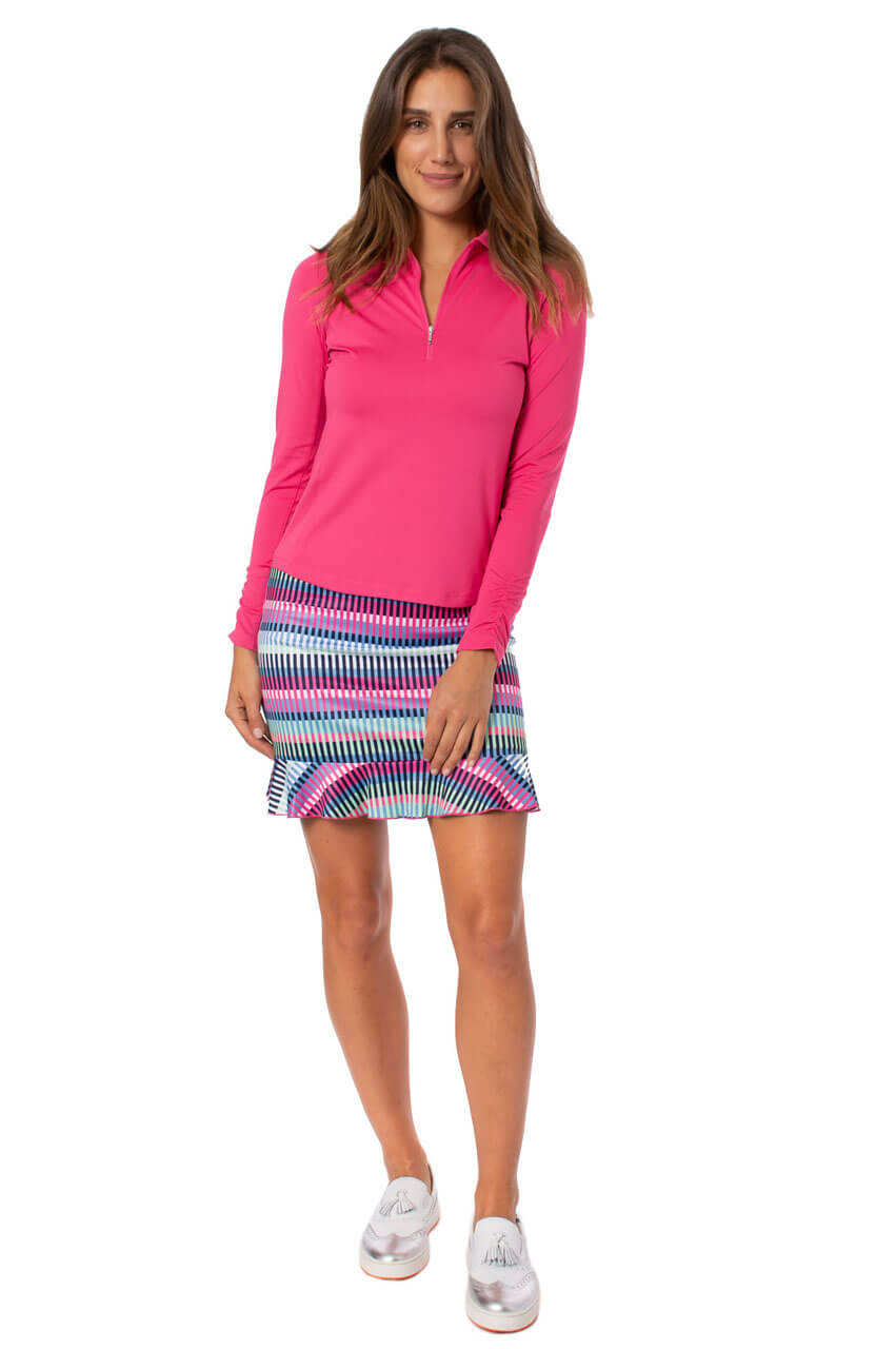 Pull-On Stretch Skort With A Ruffle | Tutti Frutti