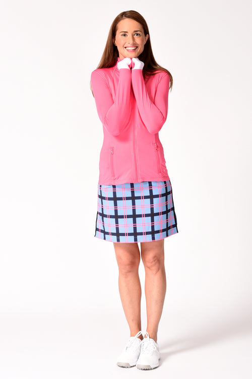 Plaid Performance Stretch Skort | Hopscotch