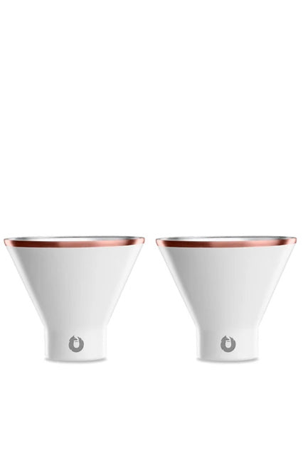 SNOWFOX Stainless Steel Stemless Martini Glass (Set of 2)