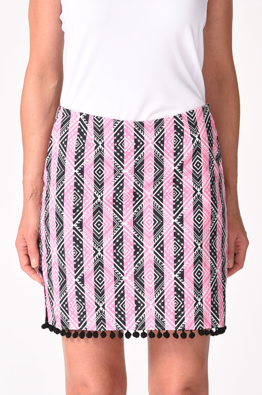 NEW! Musical Chairs Stretch Cotton Skort (Comes in 2 Lengths)