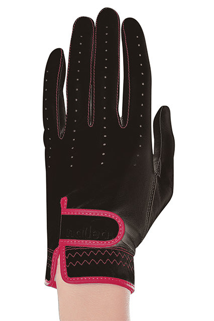 Nailed Golf Gloves Luxury Collection – Black With Hot Pink