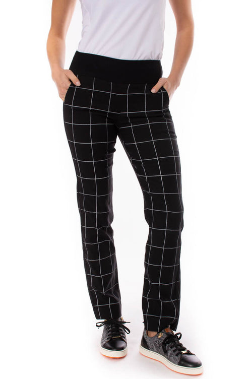 Black & White Trophy Pull-On Stretch Twill Pant