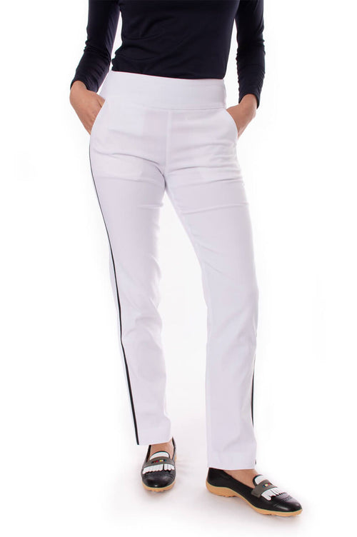 White Trophy Pull-On Stretch Twill Pant