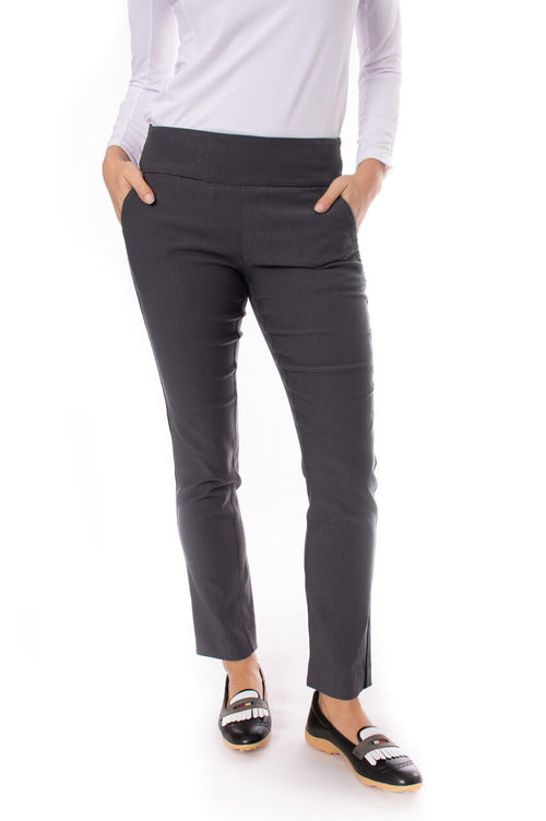 Charcoal Trophy Pull-On Stretch Twill Pant