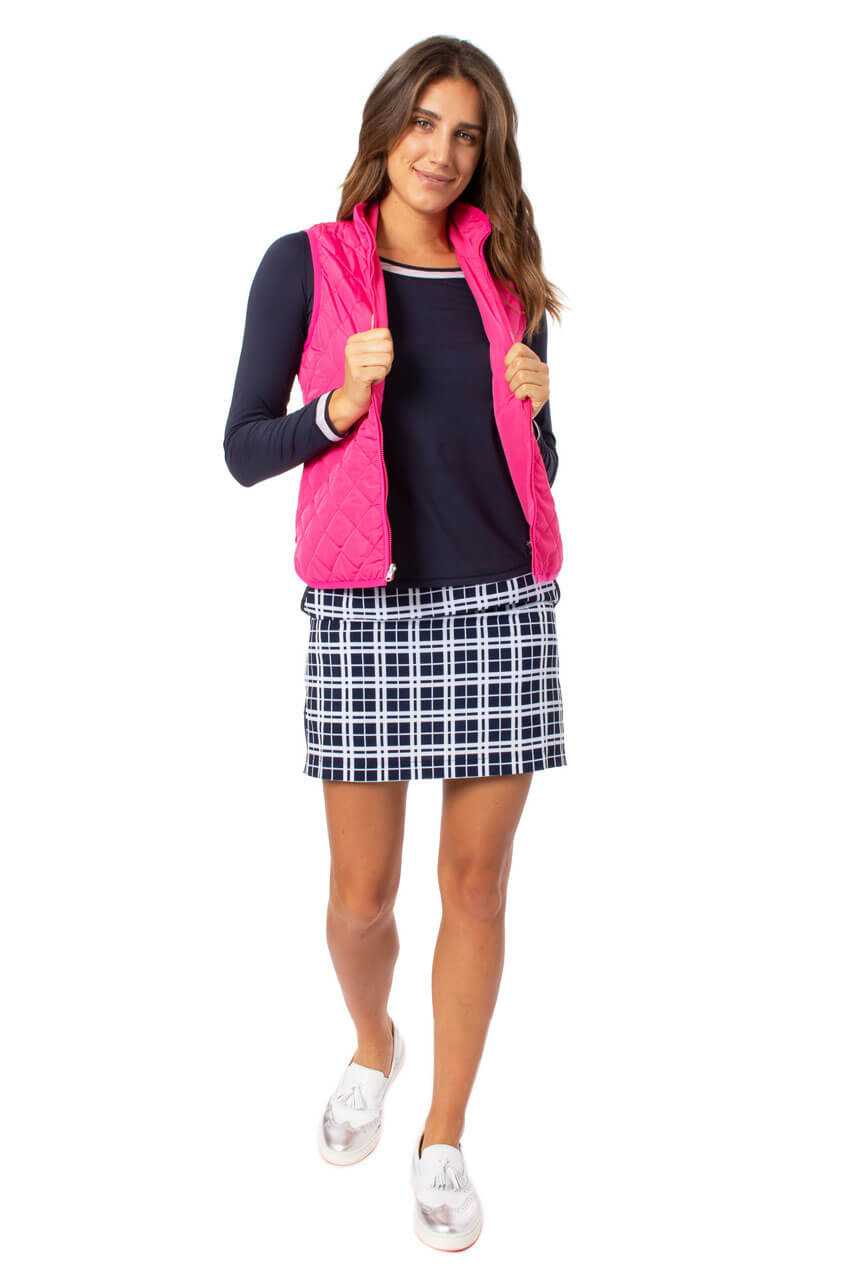 Plaid Performance Stretch Skort | Good Humor | Available in 2 Lengths