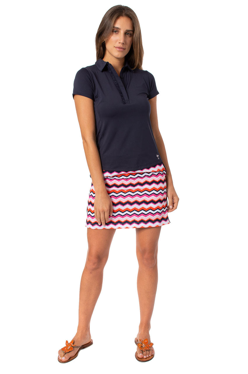 Zig Zag Performance Stretch Skort | Screwball | Available in 2 Lengths