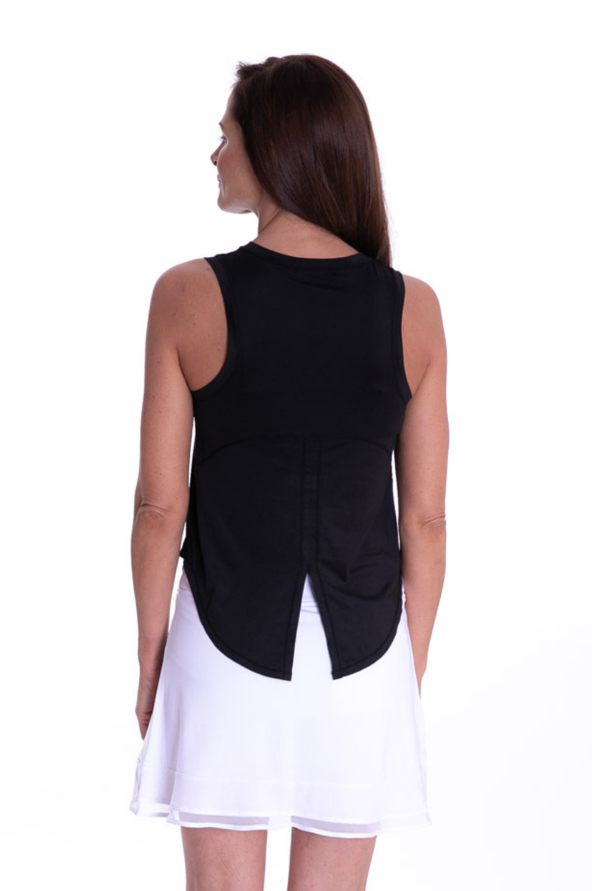 NEW! Sport Tech Tie Top - Black