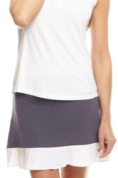 Women's GT Pull-On Ruffle Tech Skort - Grey with White