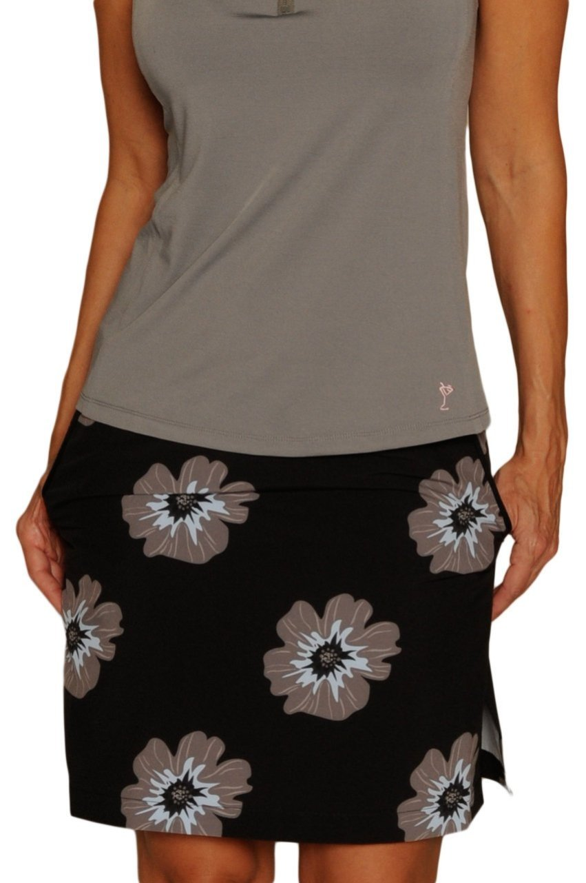 Women's Skydiving Floral Print Performance Skort (Comes in 2 Lengths)