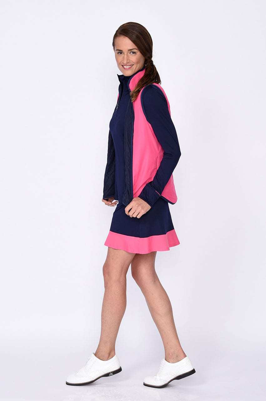 Reversible Wind Vest - Navy / Hot Pink