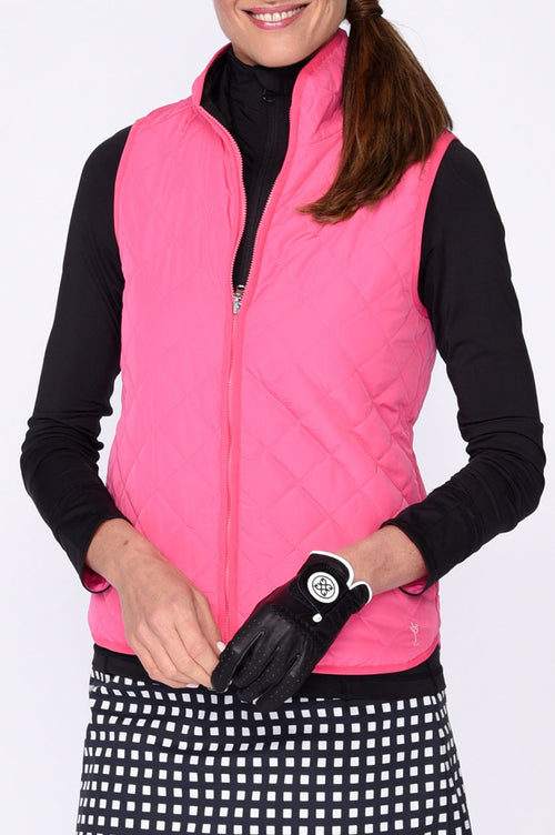 Reversible Wind Vest - Hot Pink / Black