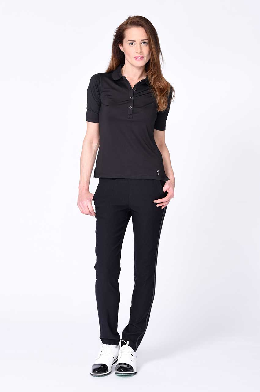 Black Elbow Fashion Stretch Top